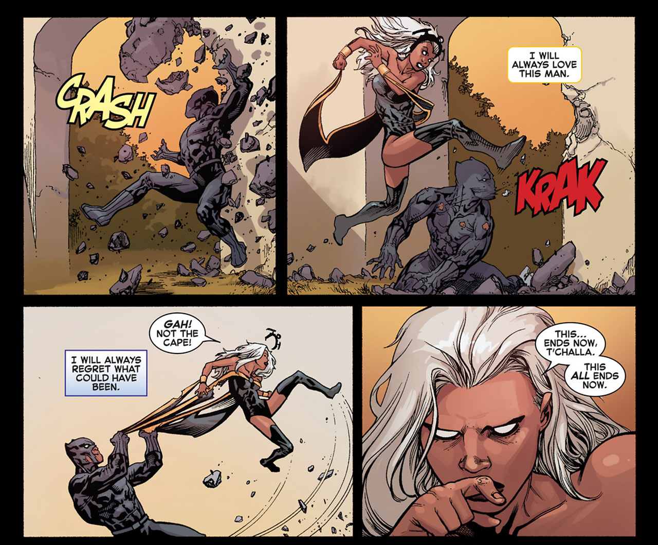 Image result for Storm/Black Panther in Avengers vs. X-men