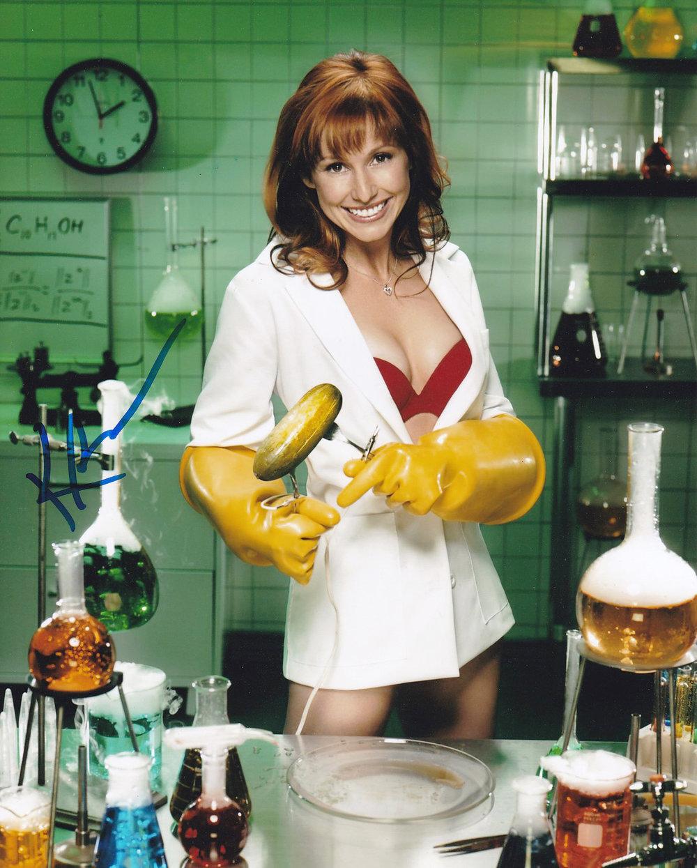 Kari Byron signed MYTHBUSTERS sexy scientist photo — Autographs Depot